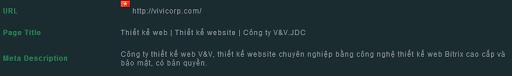 Sử dụng từ khóa trong page title và viết meta description chính xác cho thiết kế web