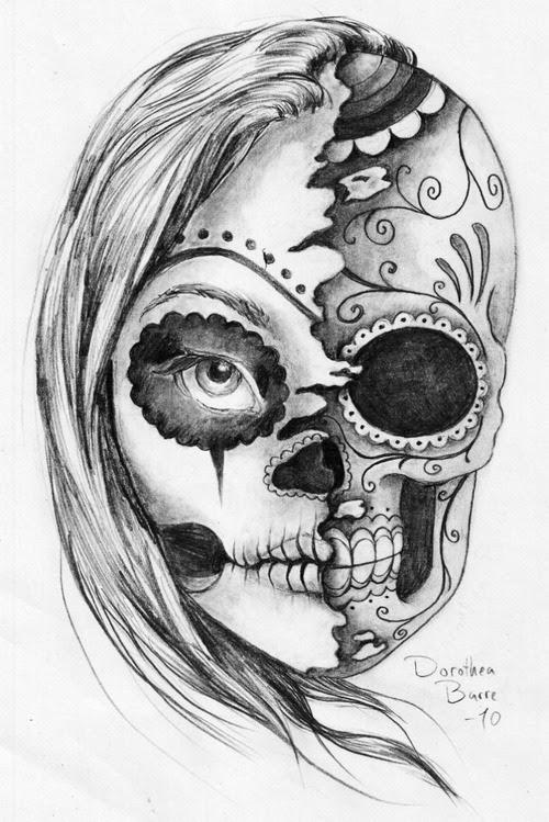 Sugar Skull Tattoo Design Sketch By Dorothea Barre Tattoomagz
