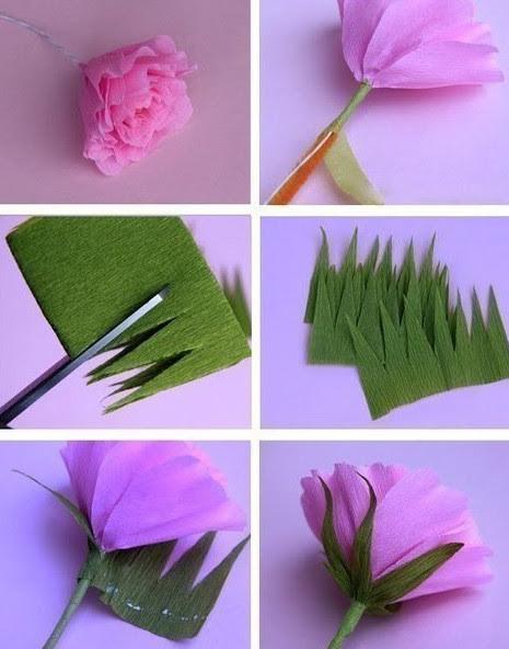 Цветы из гофробумаги своими руками (44)