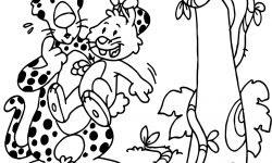 Tavşan Ile Jaguar Hikayeli Korku Boyama Sayfası