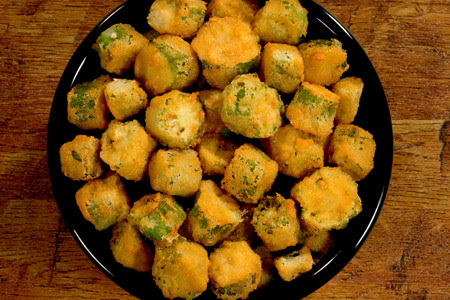 Image result for fried okra