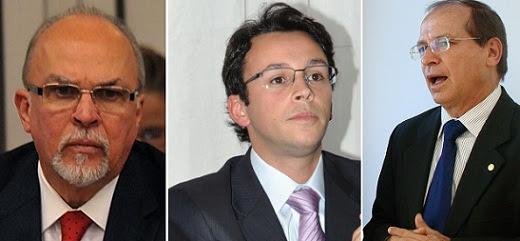 Ex-Ministro Mário Negromonte e os deputados Mario Negromonte Jr. e Roberto Britto, do PP