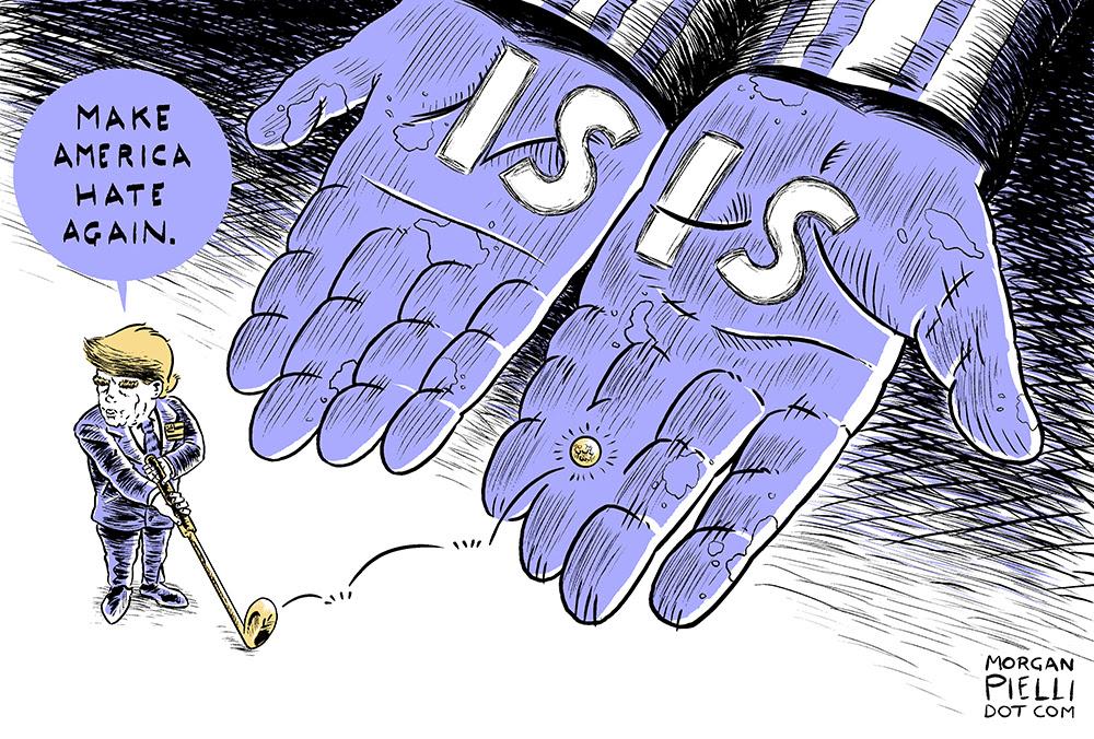 A cartoon by Morgan Pielli for the comixcast RNC (image via comixcast.com)