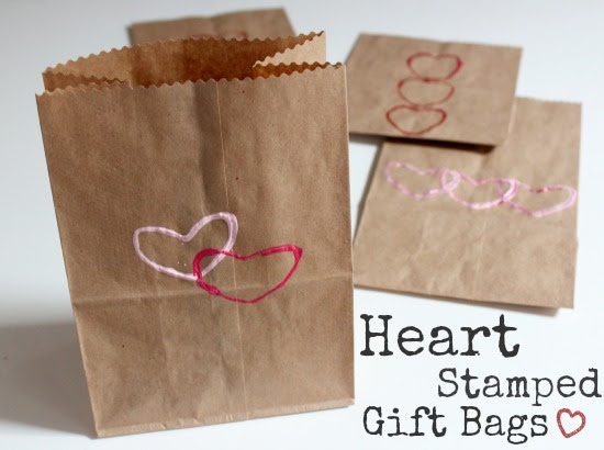 Heart Stamped Gift Bags For Valentines Make And Takes