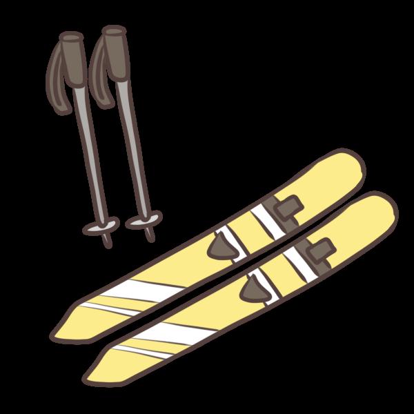 スキーのイラスト かわいいフリー素材が無料のイラストレイン