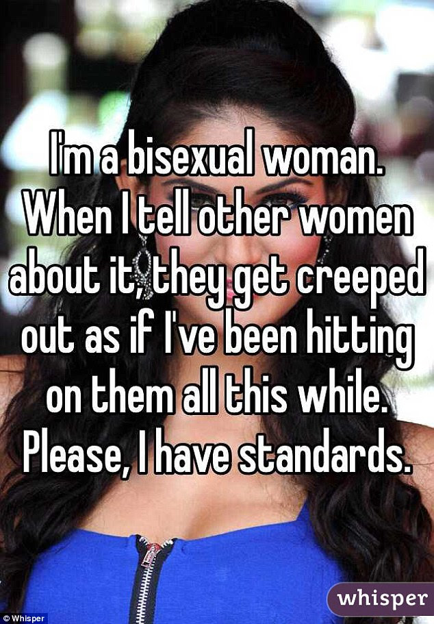 This woman is keen to assert that just because she is attracted to other women, it doesn't mean she's drawn to every single one of them