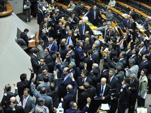Deputados no plenário durante votação do Código Florestal (Foto: Rodolfo Stuckert / Agência Câmara)