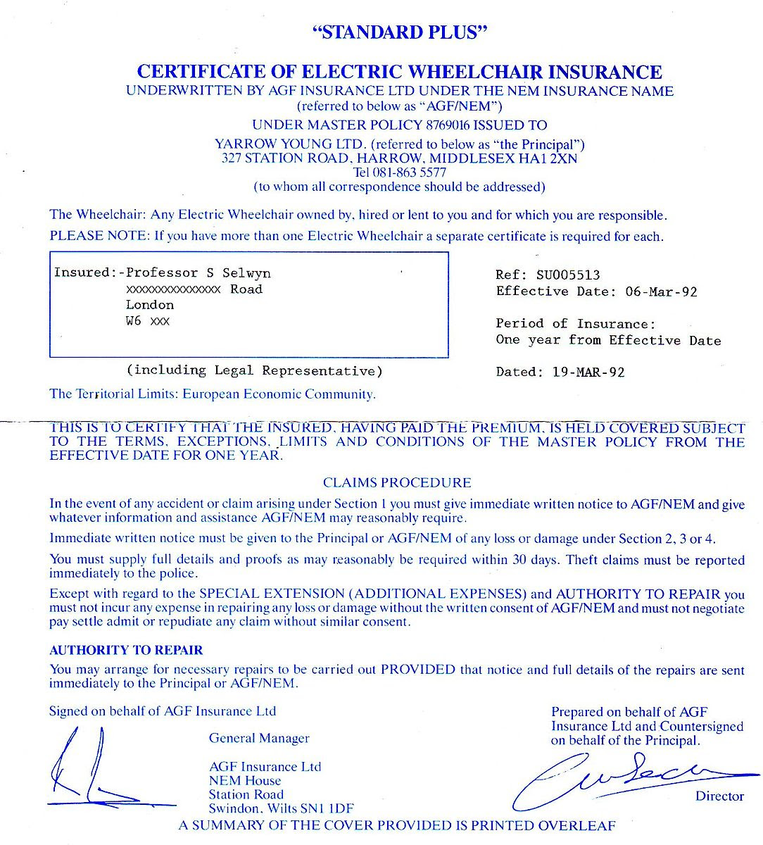 Difference Between Certificate Holder and Additional ...