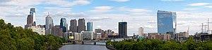 The skyline of Pennsylvania's largest city Phi...