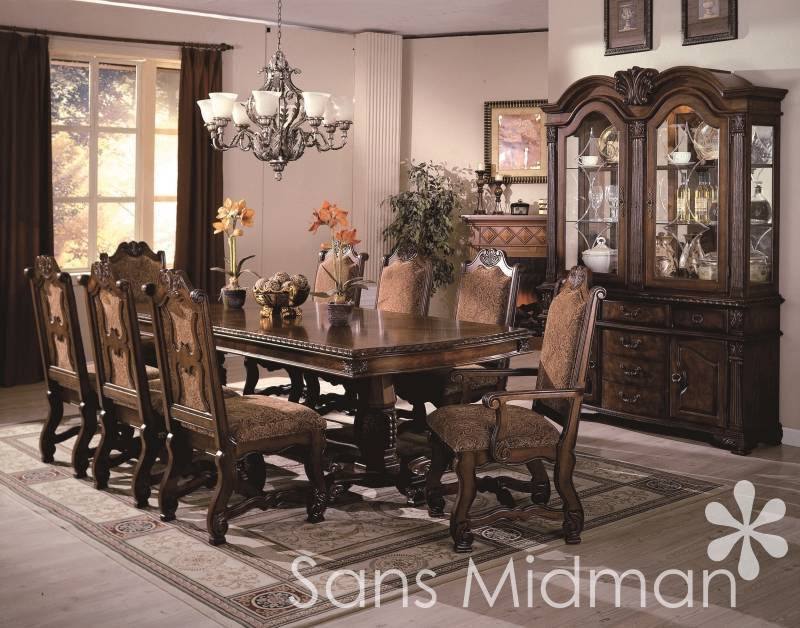Formal 12 piece Renae Dining Room Set, Table, 10 Chairs ...