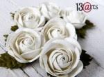 Kwiaty białe róże duże
