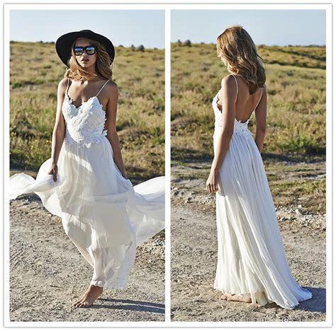 Discount 2017 Fashion Beach Backless Wedding Dresses A