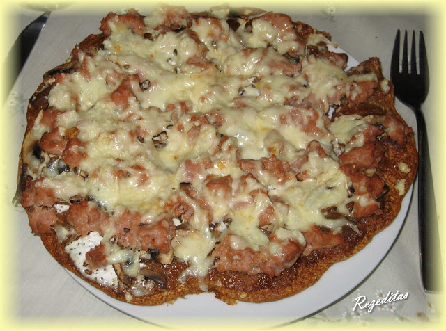 PIZZA CRUJIENTE BARBACOA