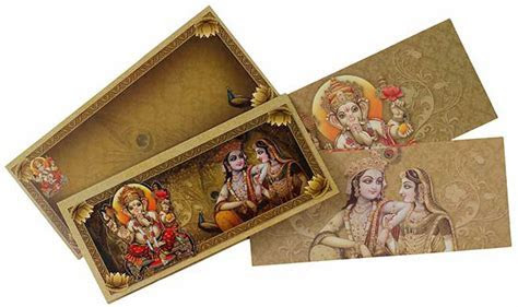 Hindu Wedding Card With Multiple God Images   Wedding