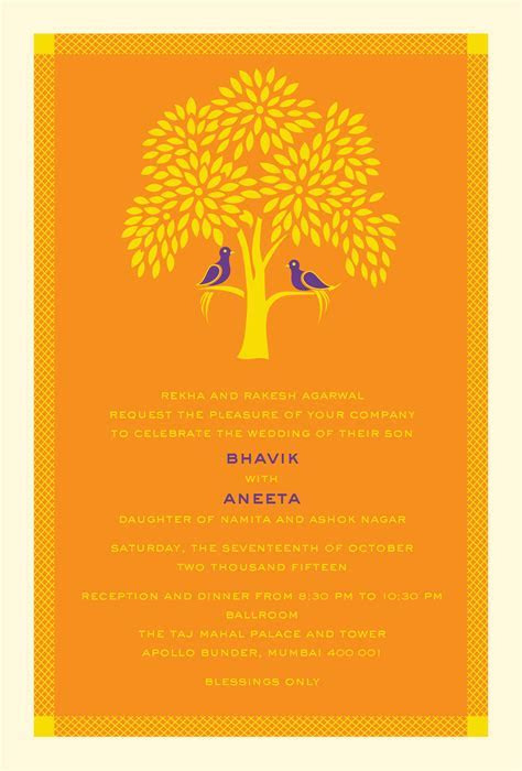Tree of Life: A modern Indian wedding Invitation Card