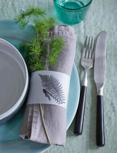 Tischdekoration mit Pflanzen, Table decoration with plants,