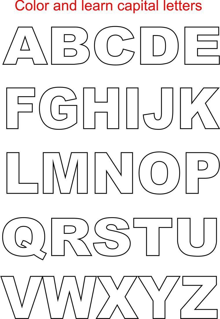Printable FREE Alphabet Templates | Letter templates, Lettering ...