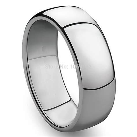 3mm to 8mm 316L Stainless Steel Shiny Polished Ring