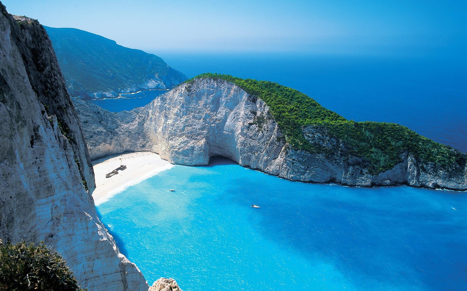 beautiful beaches of greece zakynthos amazing clear_1920x1200_42 wide