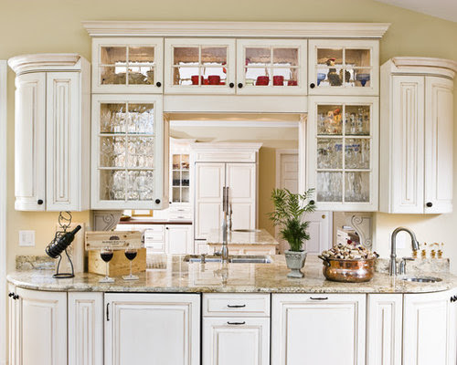Seeded Glass Cabinets Home Design Ideas, Pictures, Remodel ...
