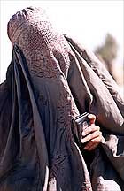 Kandahar woman in a burqa
