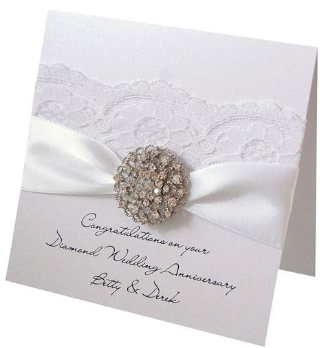 Opulence Wedding Anniversary Card   CARDS   Diamond