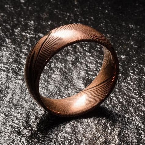 EMBR ?   Damascus Wedding Rings & Bands   40% off today