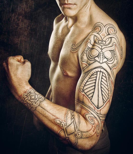 Norse Tattoo Sleeve Godmask Best Tattoo Ideas Gallery