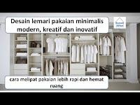 Lemari pakaian minimalis, cara melipat pakaian lebih rapi dan hemat ruang