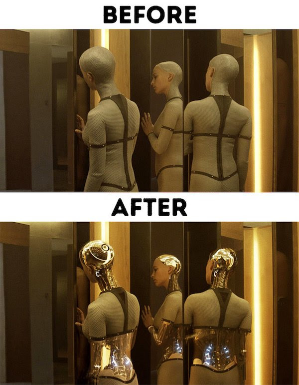 12 - 30 before and after special effects scenes