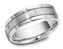 Mens wedding rings in platinum