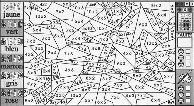 Coloriage204 Coloriage Magique Cm1 Multiplication