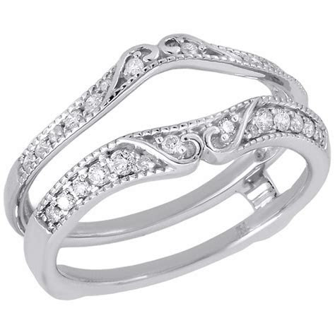 14K White Gold Diamond Solitaire Engagement Ring Antique