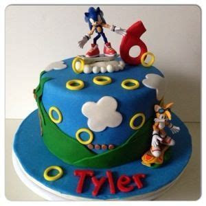 Sonic cake   Sonic cake, Sonic birthday and Video game cakes