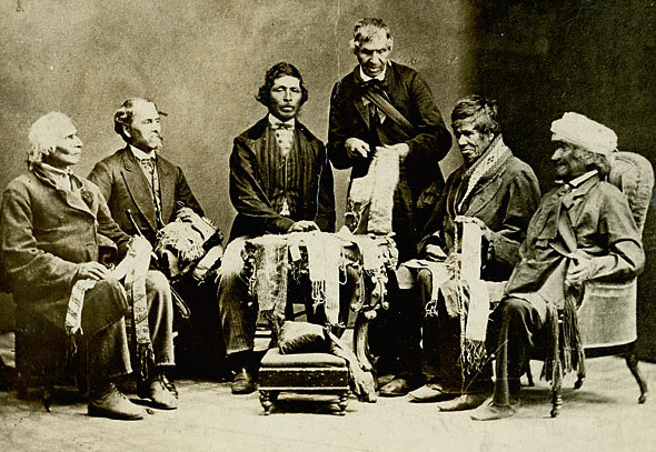 Six Nations Chiefs explain Great Peace, 1871.
