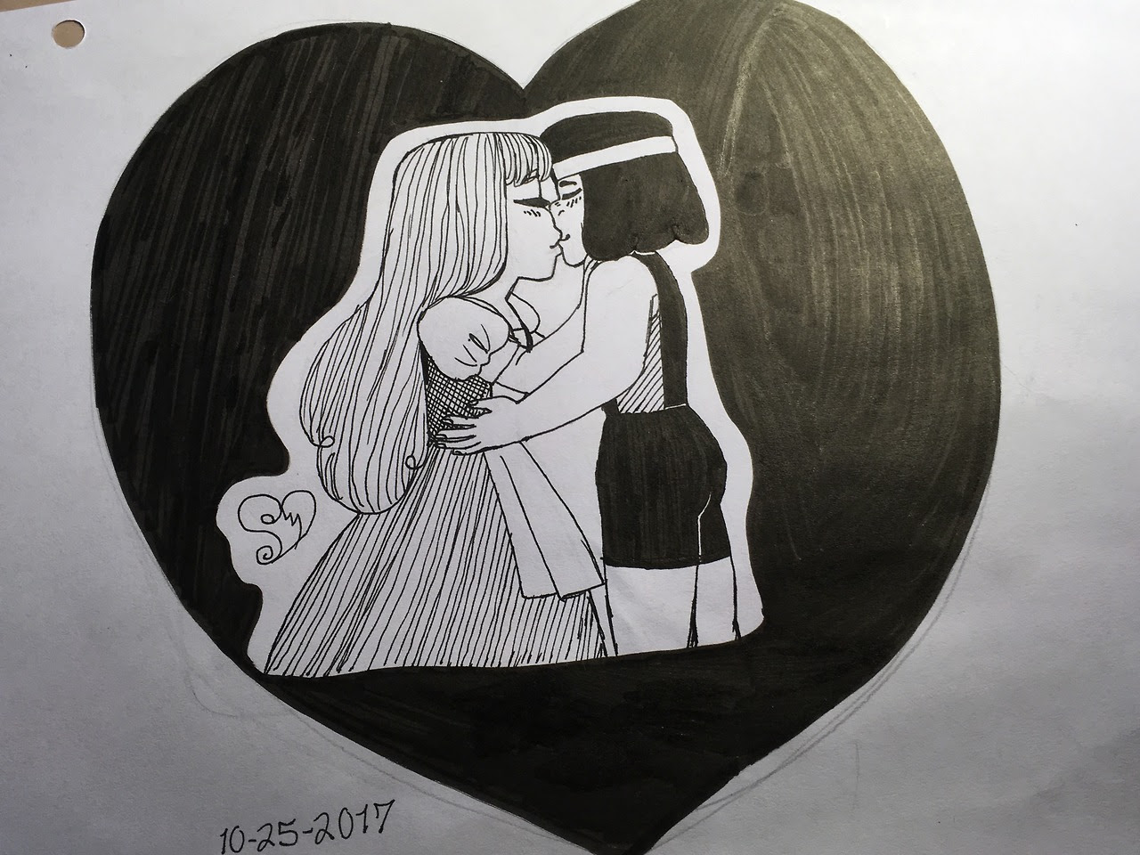 Inktober ~ Day 25: Ship It didn't specify whether it wanted a boat or a relationSHIP so I just did my otp.
