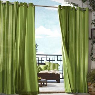 Outdoor Decor Gazebo Stripe Indoor Outdoor Window Panels from Sears.