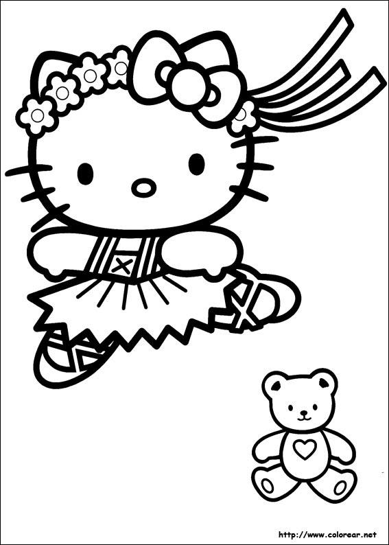 Dibujos Para Colorear De Hello Kitty De Navidad Imagesacolorier