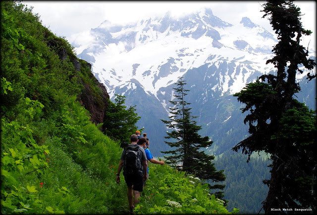 Hikers on Bald Mountain - Mt. Hood