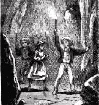 Tom Sawyer, Huckleberry Finn, and Becky Thatch...