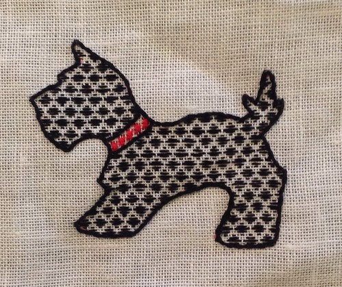 Scotty dog with darning fill