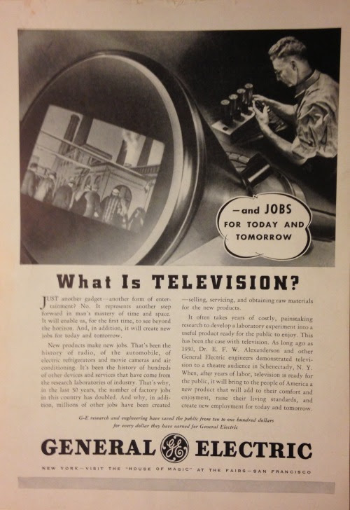"wordfromoursponsor:  ""New products make new jobs."" (General Electric, 1939)  Oh, if they only knew!"