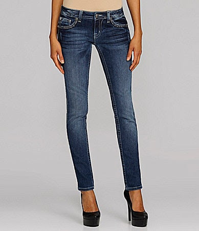 Miss Me Jeans Metallic Embroidered Skinny Jeans