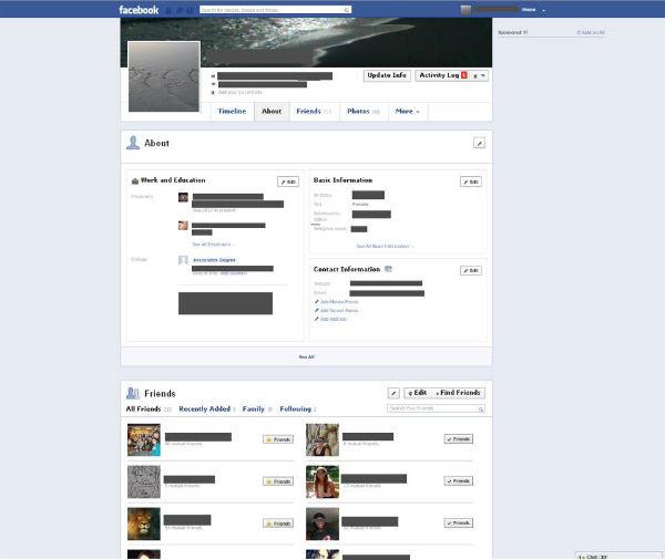 Nova Timeline Facebook