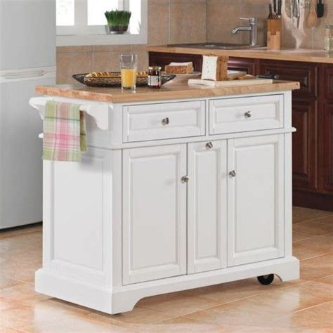 white kitchen island  wheels lovely  wheels white