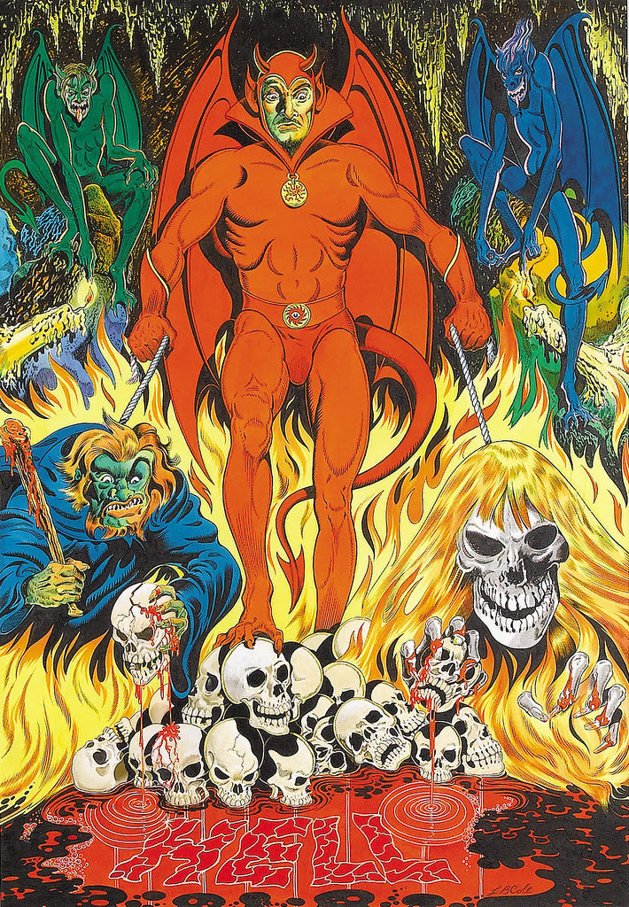 "L. B. Cole - ""Hell"" Painting Original Art (1980)."