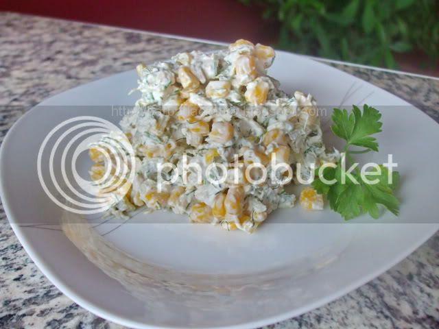 Salata de pui si porumb reteta