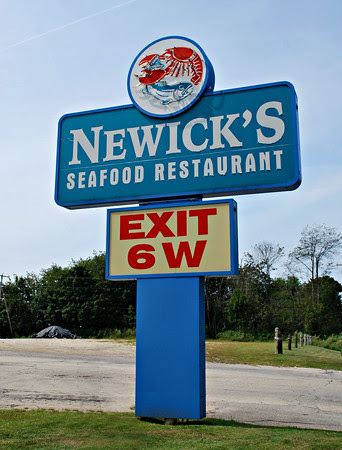 The sign in front of Newick's in Dover, New Hampshire.
