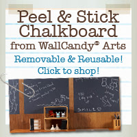 Reusable chalkboard wall stickers