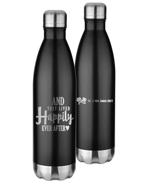 Wedding Quotes and Sayings Black Water Bottle - 26 oz